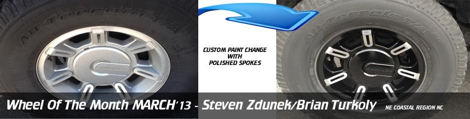 Wheel of the Month March '13, Steven Zdunek/Brian Turkoly (NE Coastal Region NC)