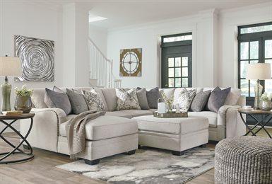 Dellara Upholstered 4PC Sectional Chalk