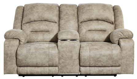 McGinty Power Reclining Loveseat With Adjustable Headrest Graystone
