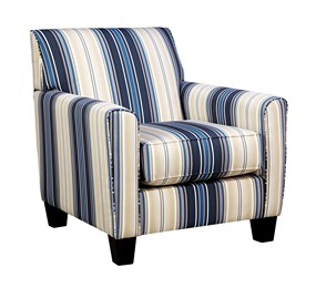 Nuvella Upholstered Accent Chair Indigo