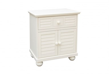 Beachfront Door Nightstand Cottage White