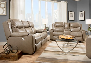 Marvel Double Reclining Sofa With Console
