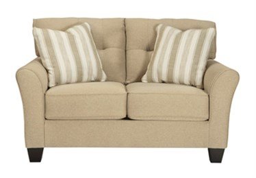 Laryn Upholstered Loveseat Khaki
