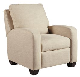 Nuvella Upholstered Low Leg Recliner Sand