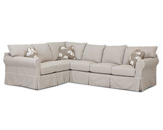 Jenny Upholstered Slip Cover Sectional