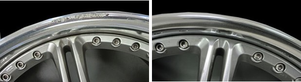 Repaired Chrome Rim