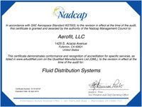 Nadcap Fluid Distribution Certificate