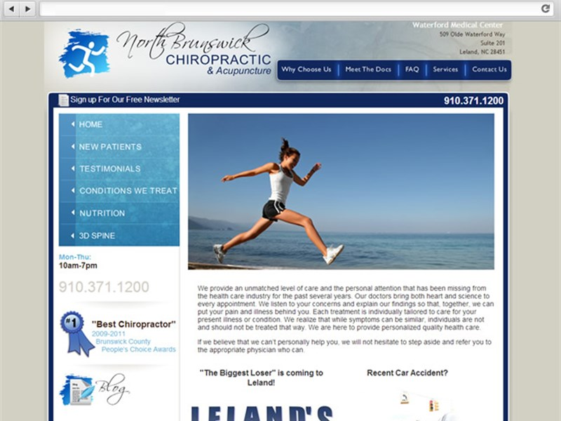 North Brunswick Chiropractic - Web Design