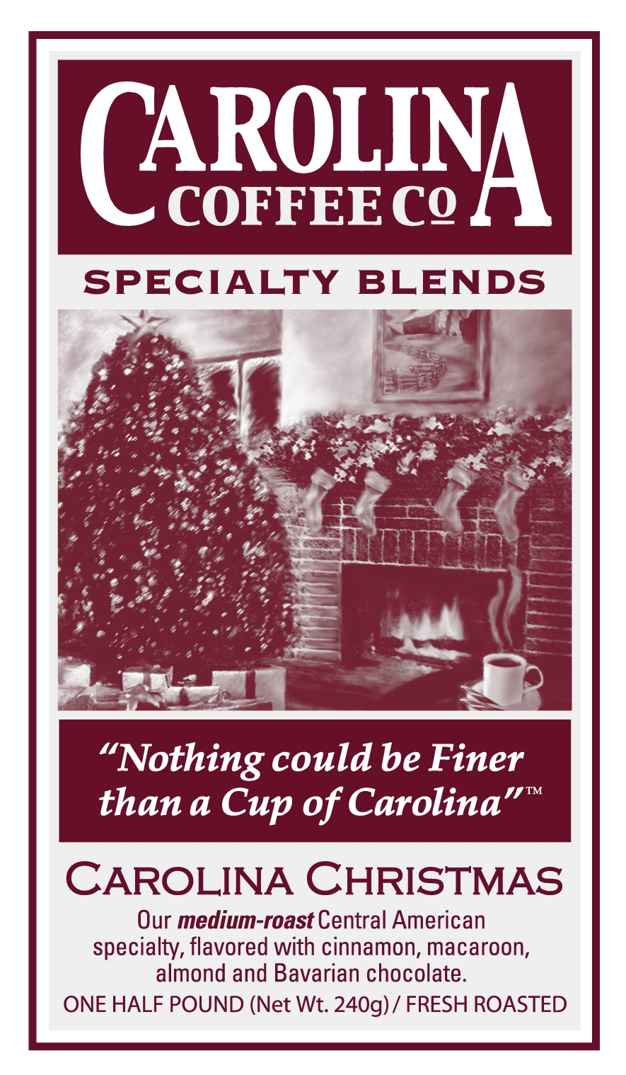 Carolina Coffee Carolina Christmas Blend Swiss Water Decaf