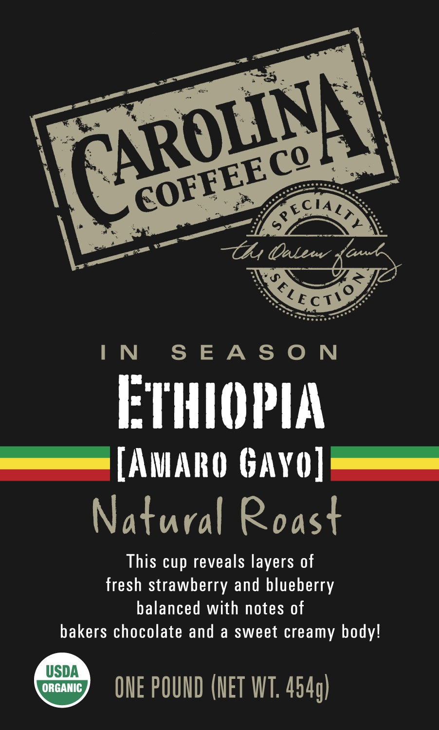 Carolina Coffee Ethiopia Amaro Gayo