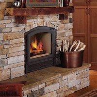 Lennox Villa Vista wood fireplace