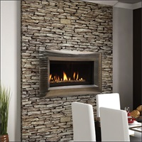 "Majestic ""Echelon"" linear fireplace"