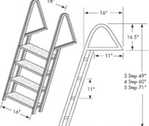 DOCK LADDER GALV. 3 STEP