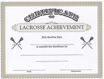 Gallery lacrosse specialties awards gifts wilmington nc cola certificate of achievement as low as 95 yelopaper Gallery