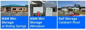 four pictures of storage units
