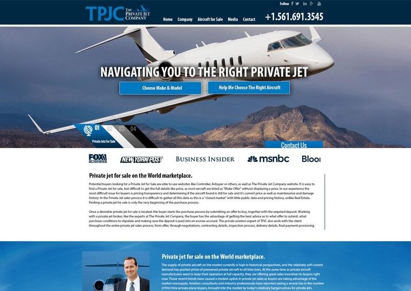 The Private Jet Company  Website Design By Bluetone Media