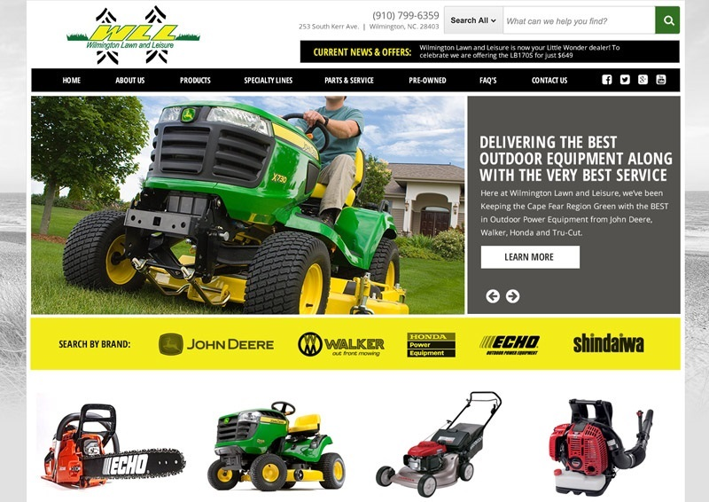 Wilmington Lawn And Leisure Website Design By Bluetone Media