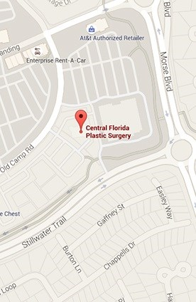 Map of Central Florida Plastic Surgery