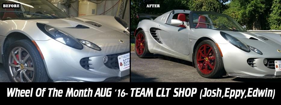 Wheel of the Month August '16, Team CLT Shop (Josh, Eppy , Edwin)