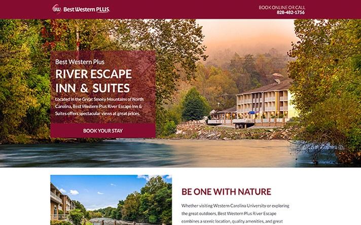 BW River Escape