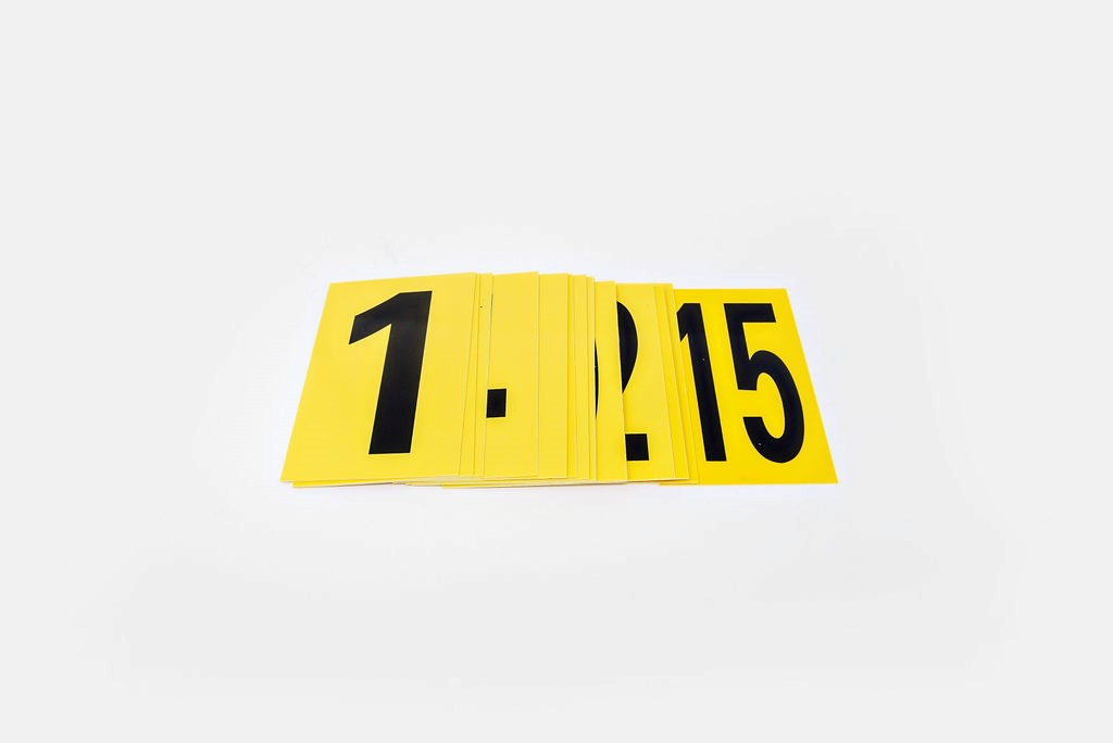 Evidence Markers, #1-10, Lay down