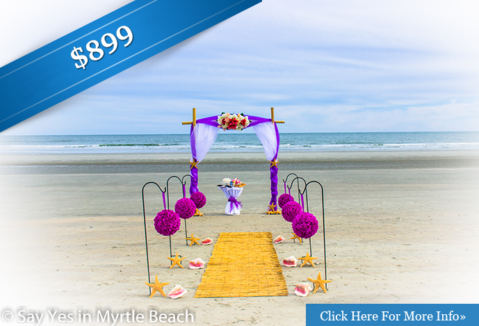 myrtle beach wedding package