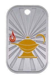 GI-L - Lamp of Learning Dogtag