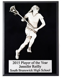 FCP810 Female Figure Lacrosse Plaque