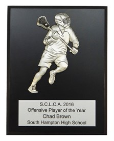 MCP79 Male Figure Lacrosse Plaque