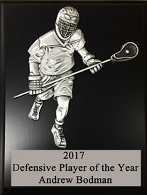 MCPD79 Defensive Figure Lacrosse Plaque