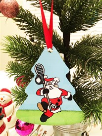 OR-S Lacrosse Santa Ornament