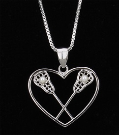 HP-2 Crossed Stick Heart Charm