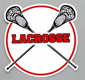 Stock Lacrosse Car Magnet