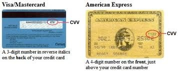 credit card cvv