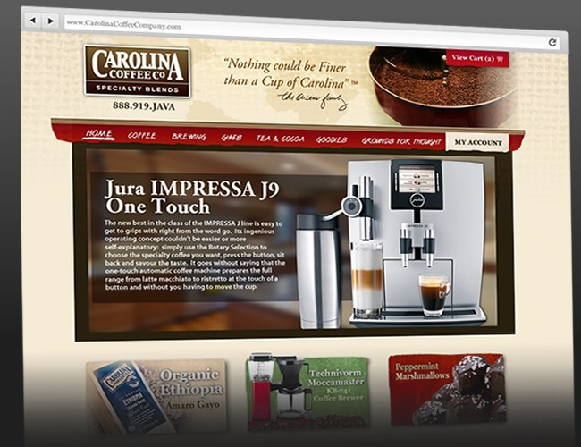 Website Design- Carolina Coffee Company