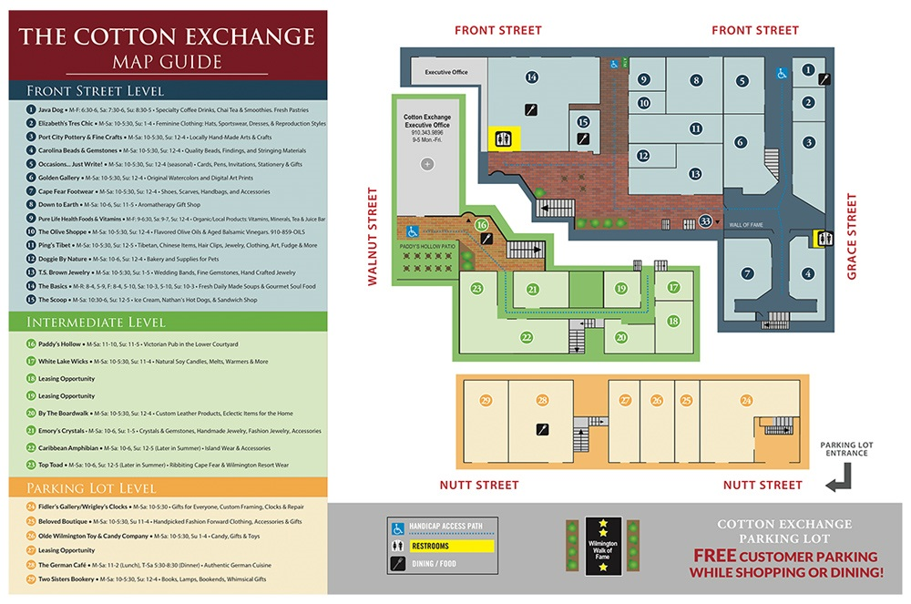 Click to view the Cotton Exchange Guide & Map