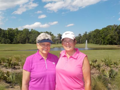 Match Play Flight 2 Winners - Jackie Currier and Vickie Vik