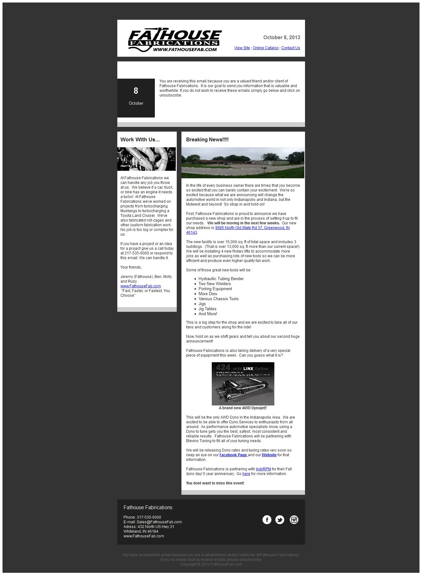 Newsletter 10-8-13