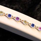 Multi-Color Sapphire & Diamond Bracelet available at Albert F. Rhodes Jewelers