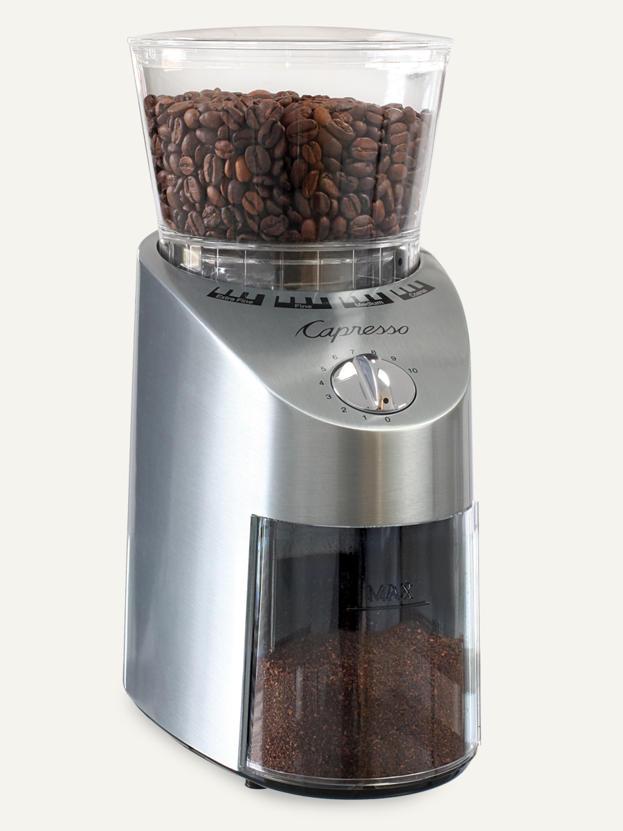 Carolina Coffee Capresso Infinity Conical Burr Grinder - Zinc Die Cast Housing