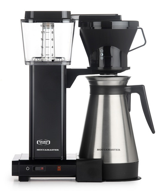 Carolina Coffee    A Technivorm Moccamaster KBT Manual Drip Stop Coffee Maker with Thermal Carafe - Black