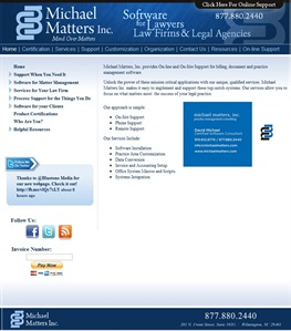 Michael Matters Inc. Software for Lawyers, Law Firms and Legal Agencies