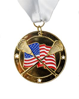 MDL-3 Flag Lacrosse Medal ***AS LOW AS $2.85 each***