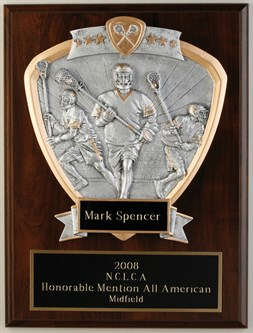 PD9X12 Male Lacrosse Plaque