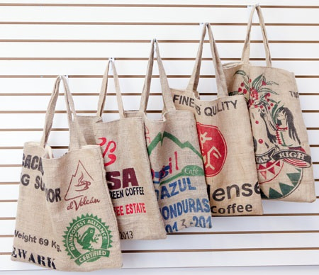 Carolina Coffee Burlap Coffee Bag Tote