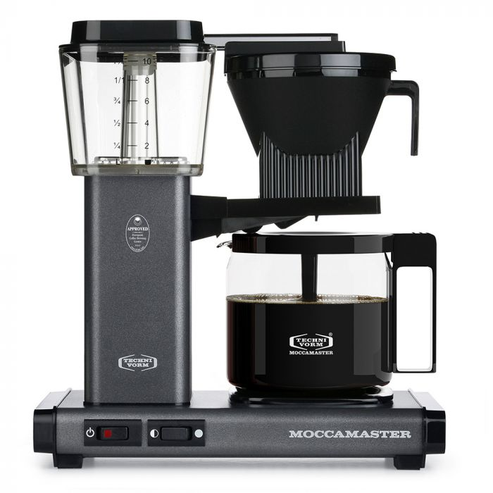 Carolina Coffee Technivorm Moccamaster KBG Automatic Drip Stop Coffee Maker With Glass Carafe - Stone Gray
