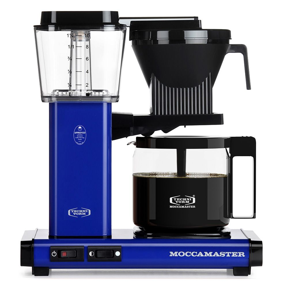 Carolina Coffee  A Technivorm Moccamaster KBG Automatic Drip Stop Coffee Maker With Glass Carafe -  Royal Blue