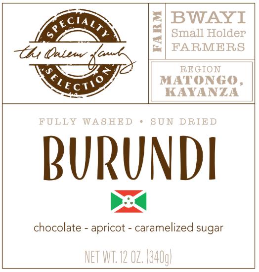 Carolina Coffee Burundi Matongo