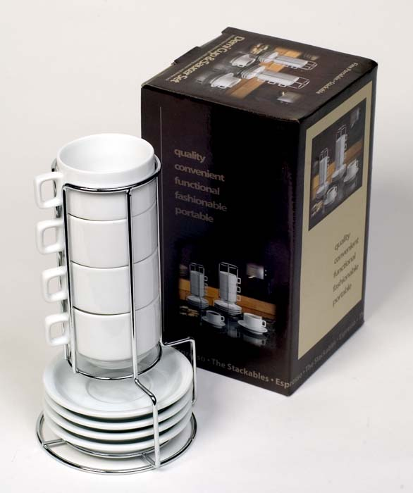 Carolina Coffee Demi Cup & Saucer Set