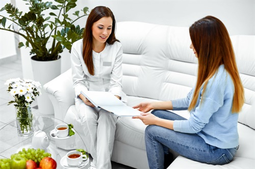 Cosmetic dermatology consultation